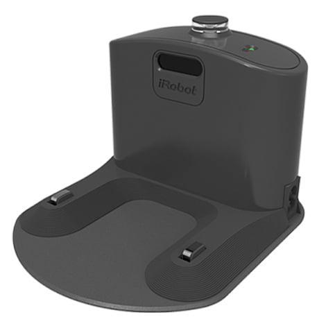 Компактная зарядная база для Roomba с интегрированным зарядным устройством.